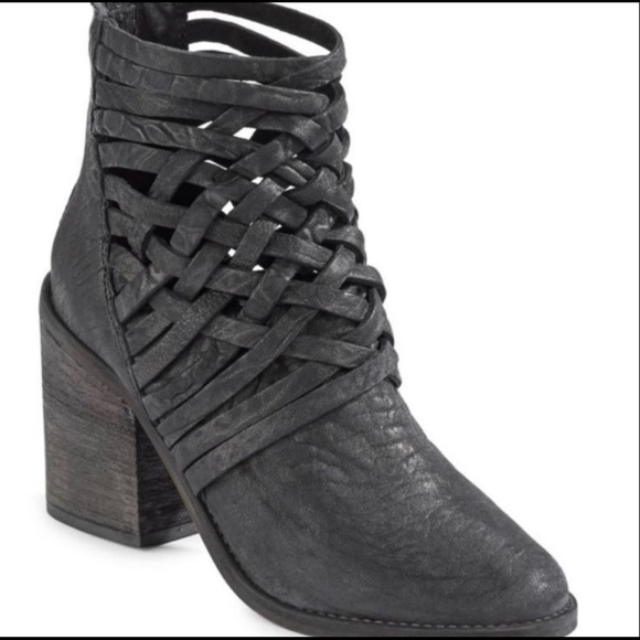 Free People Shoes - Free People Woven Leather Bootie